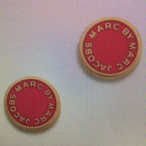 🎁MARC BY MARC JACOBS PINK DISC EARRINGS 🎁
